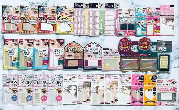 ダイソー、セリア、キャンドゥで販売しているアイテープ全種類